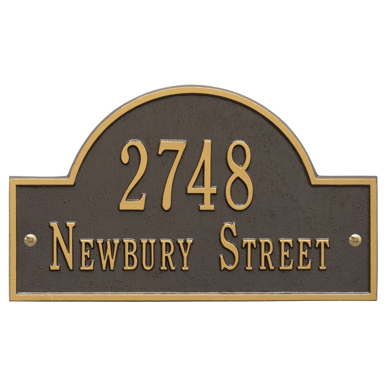 Arch Marker Standard Address Plaque Finish: Bronze and Gold