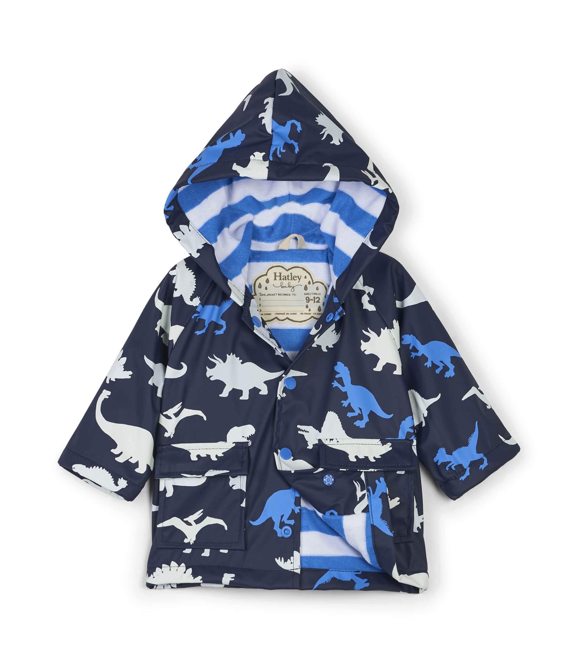 Hatley Baby Boys Printed Raincoats, Color Changing Dino Herd, 12-18 Months by Hatley