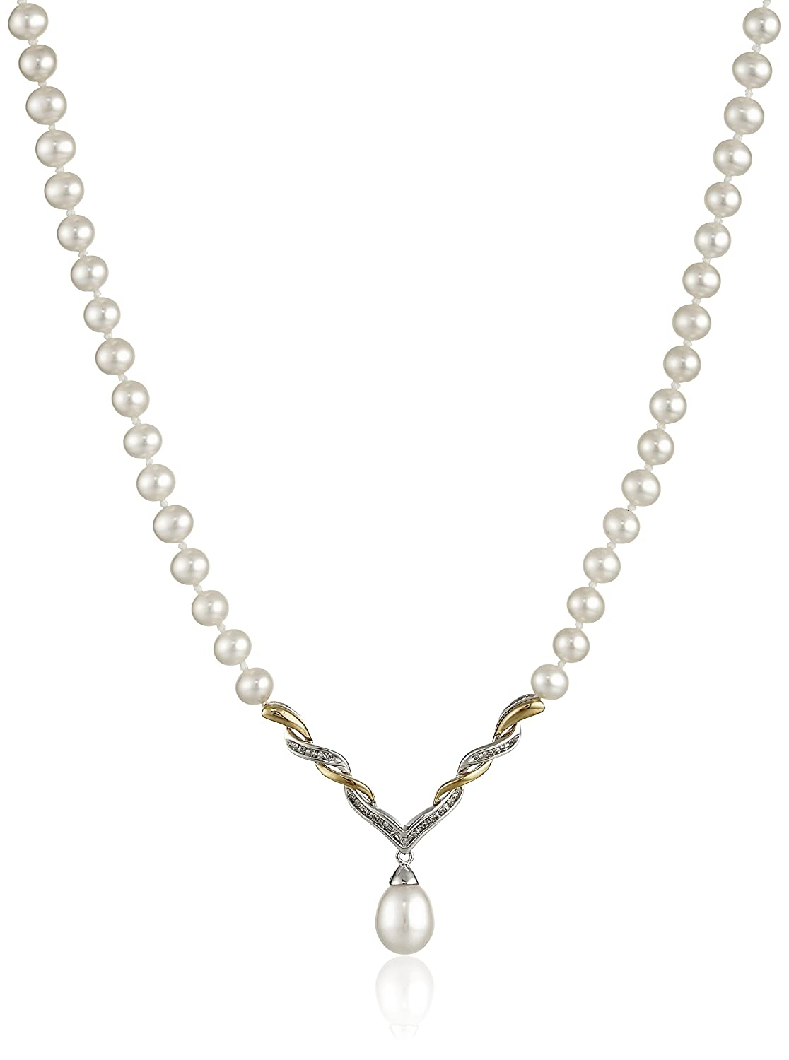 necklaces diamond pendants in cluster image yellow pearl necklace gold and