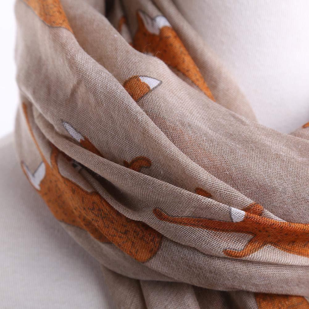 Modello Volpe Femminile Modello Lungo Sciarpa Sciarpa di Seta Trama Amice Filato per Sciarpa Moda Autunno e Inverno Arvin87Lyly Sciarpe da Donna