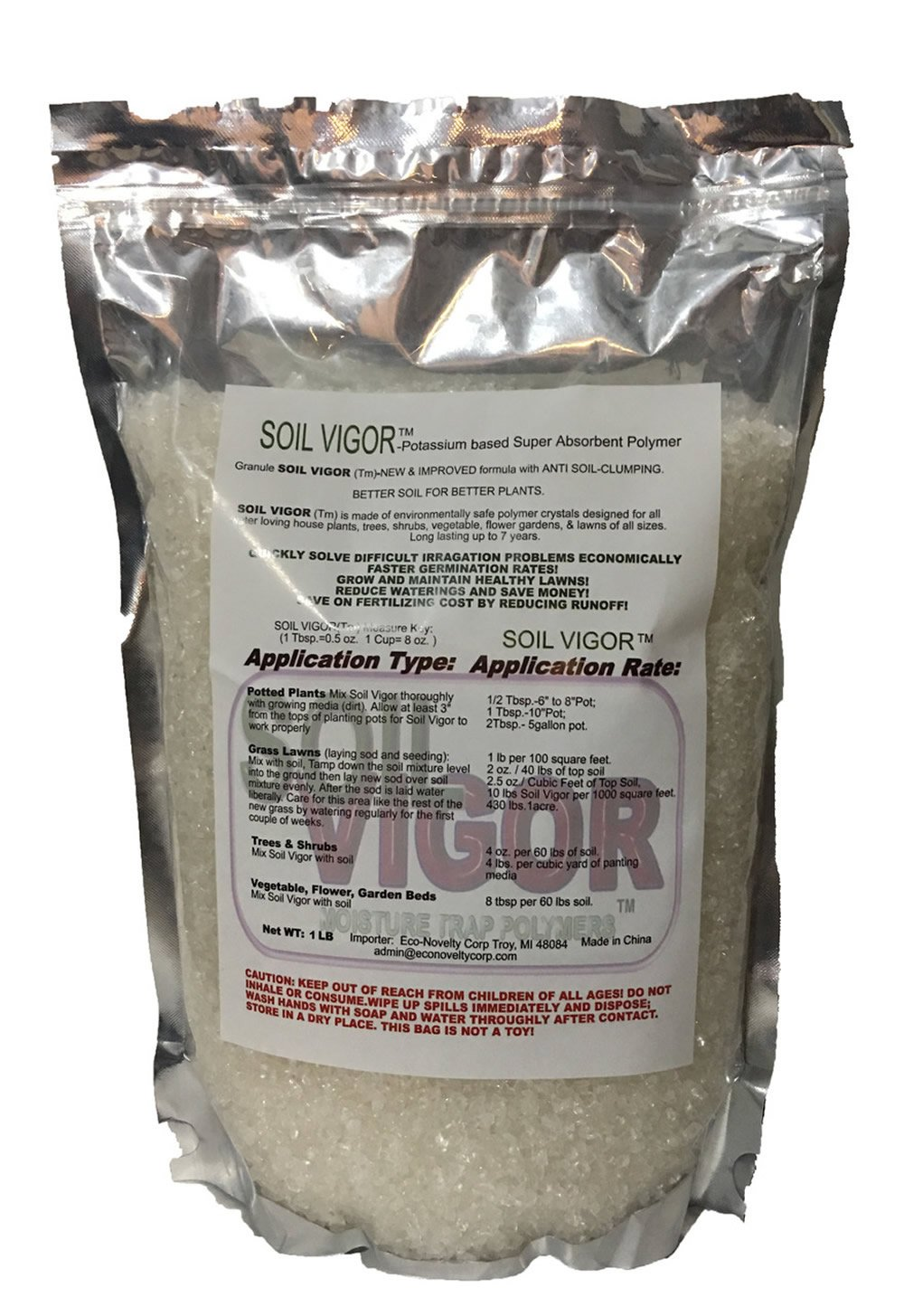 1 Pound Soilmoisture Trap Super Absorbent Hydro Gel Granules Polymer; Soil Vigor (Tm)