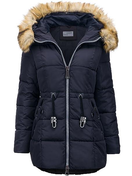 Pelliccia Giacca Trapuntato Cappotto Invernale Con Lunga Donna gw8XqX