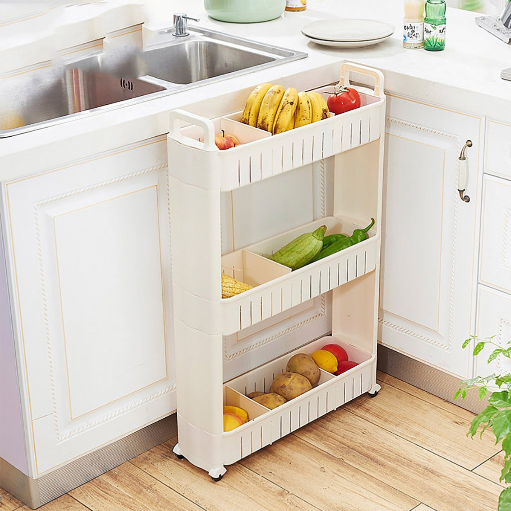 Trolley Cuisine niveaux Slide 4 Rangement Out Cuisine Rack Yfb76gyv