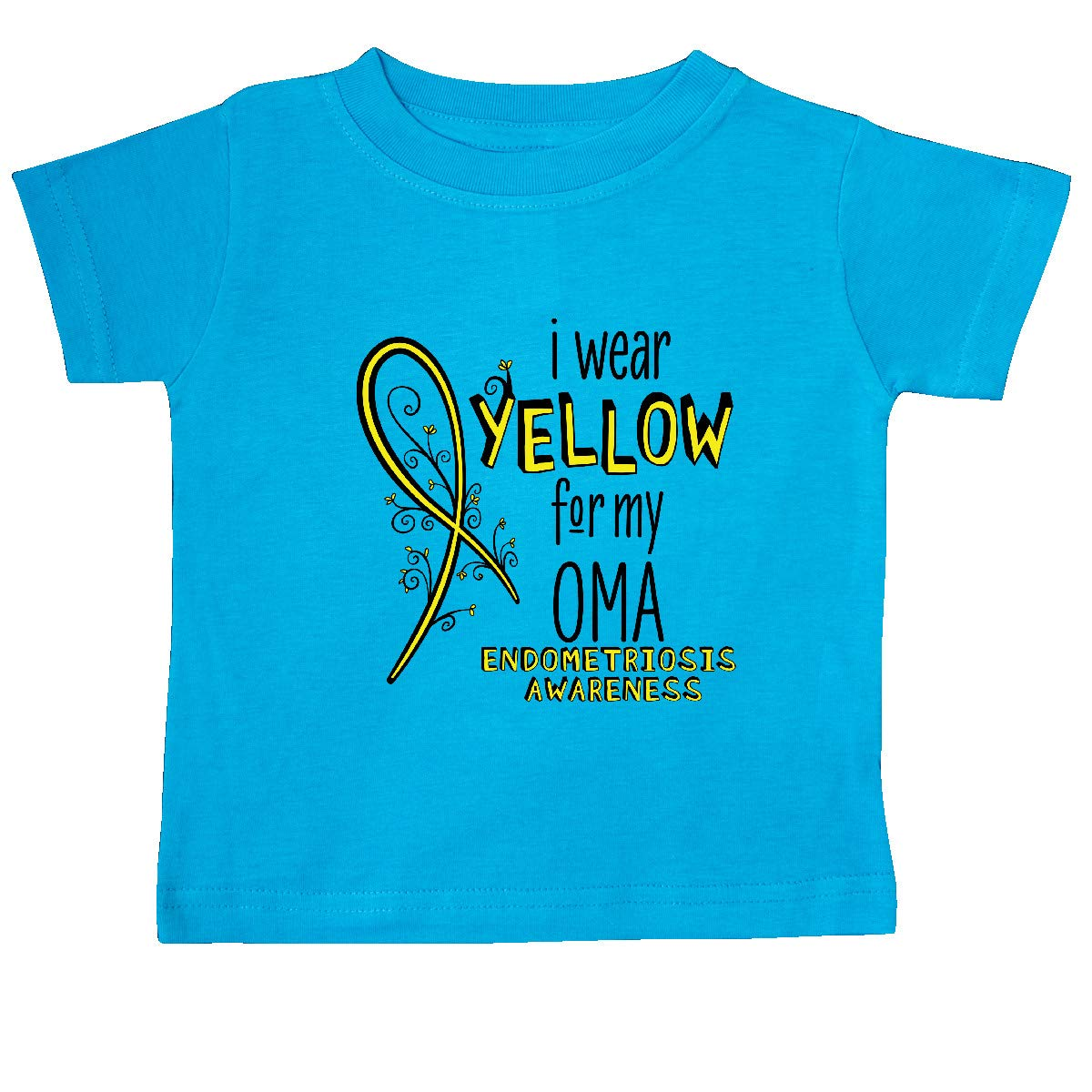 inktastic I Wear Yellow for My Oma Endometriosis Awareness Baby T-Shirt