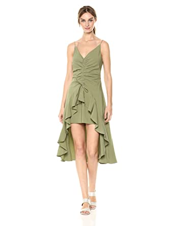 4c12df63c3ff findersKEEPERS Women s Daytrip High Low V Neck Ruched Sleeveless Midi  Casual Dress