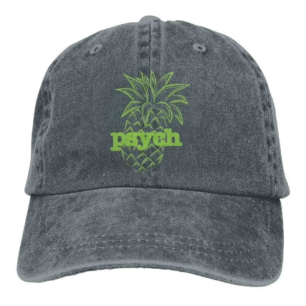 JTRVW Psych Pineapple Funny Cotton Sport Outdoor Cowboy Hat Adjustable Asphalt