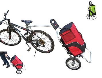 Carro Polironeshop Geko para bicicleta, ideal pra llevar la compra y como portabultos para cicloturismos, rojo: Amazon.es: Deportes y aire libre