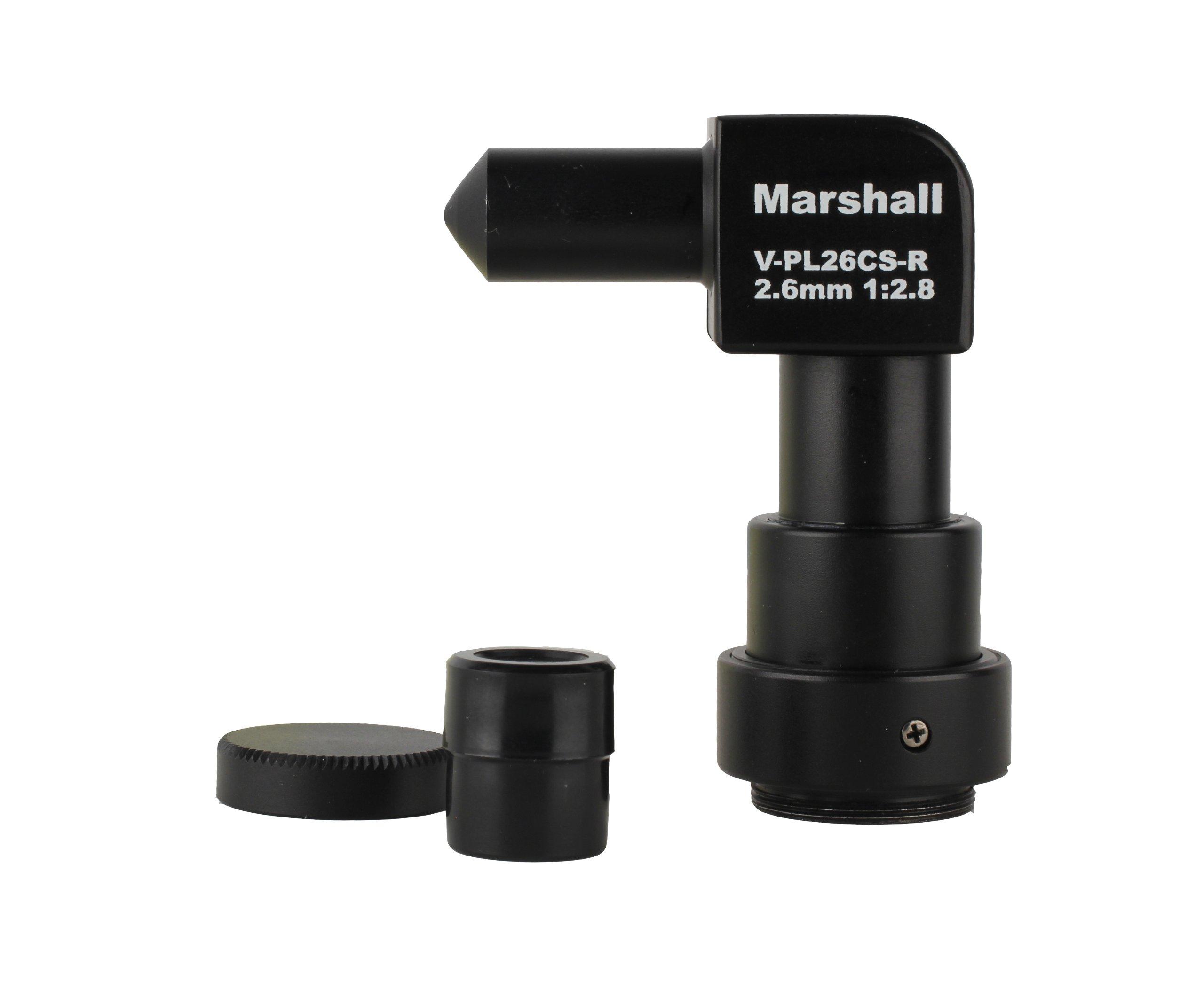 Marshall Electronics V-PL26CS-R 2.6mm f2.8 CS Mount Right Angle Pinhole Lens (Black)
