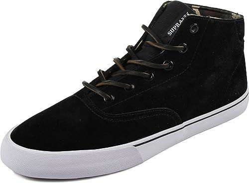 86ac991f06901 Amazon.com | Supra Wrap Up Skate Shoe - Men's Black/Camo-White, 9.5 ...