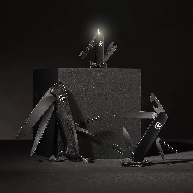 cm 8 Funktionen, Klinge, Schere, Massstab schwarz , LED Erwachsene Taschenmesser Signature Lite Onyx Black Victorinox Unisex/ 58mm