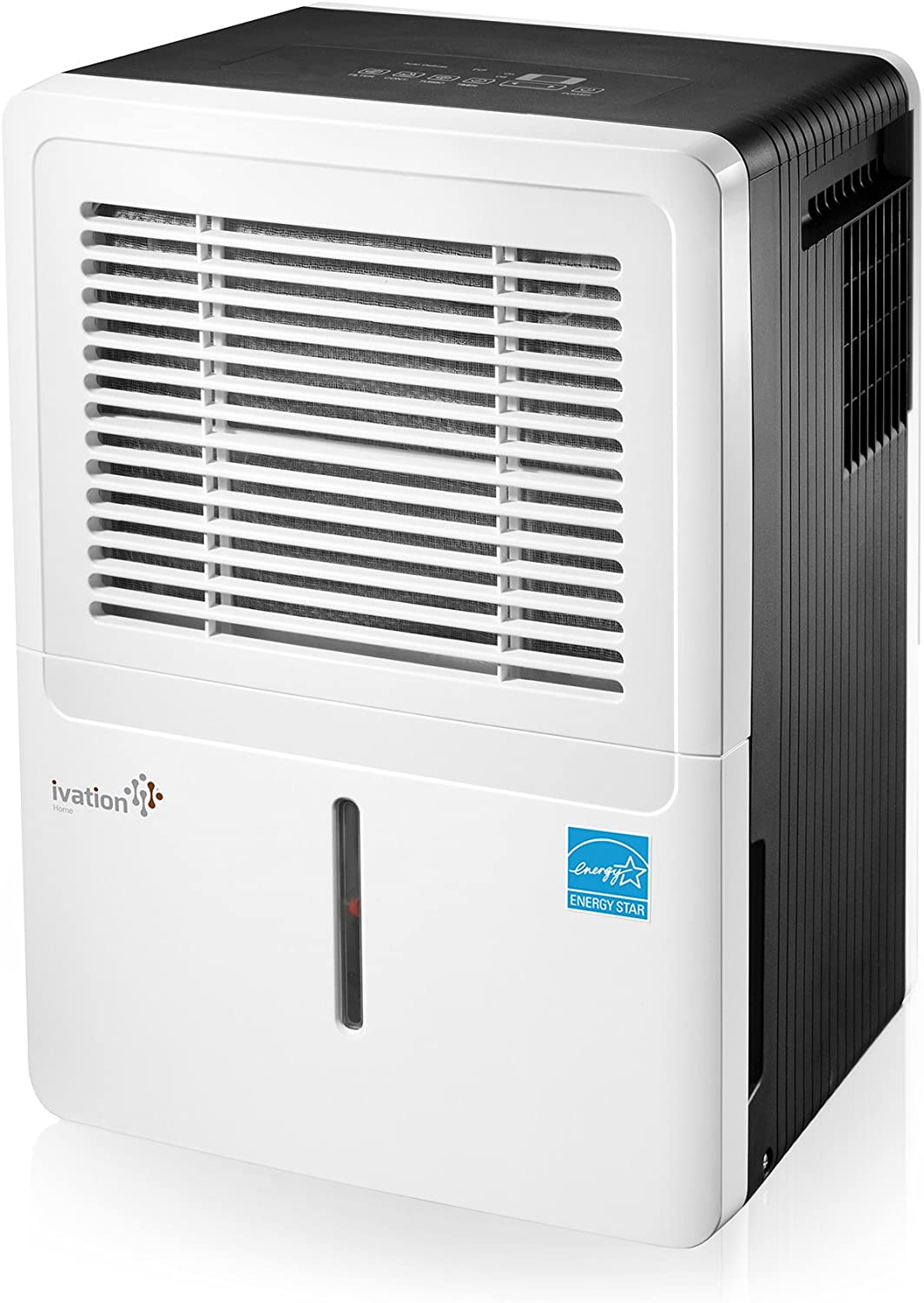 Ivation 30 Pint Energy Star Dehumidifier – For Spaces Up To 2,000 Sq Ft – Includes Programmable Humidistat, Hose Connector, Auto Shutoff Restart, Casters Washable Air Filter 30 Pint ,White