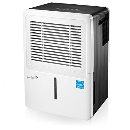 Ivation 50-Pint Energy Star Dehumidifier – Compressor Dehumidifie for Spaces Up to 3,000 Sq Ft – Includes Programmable Humidistat, Hose Connector, Auto Shutoff Restart Washable Filter 50 Pint
