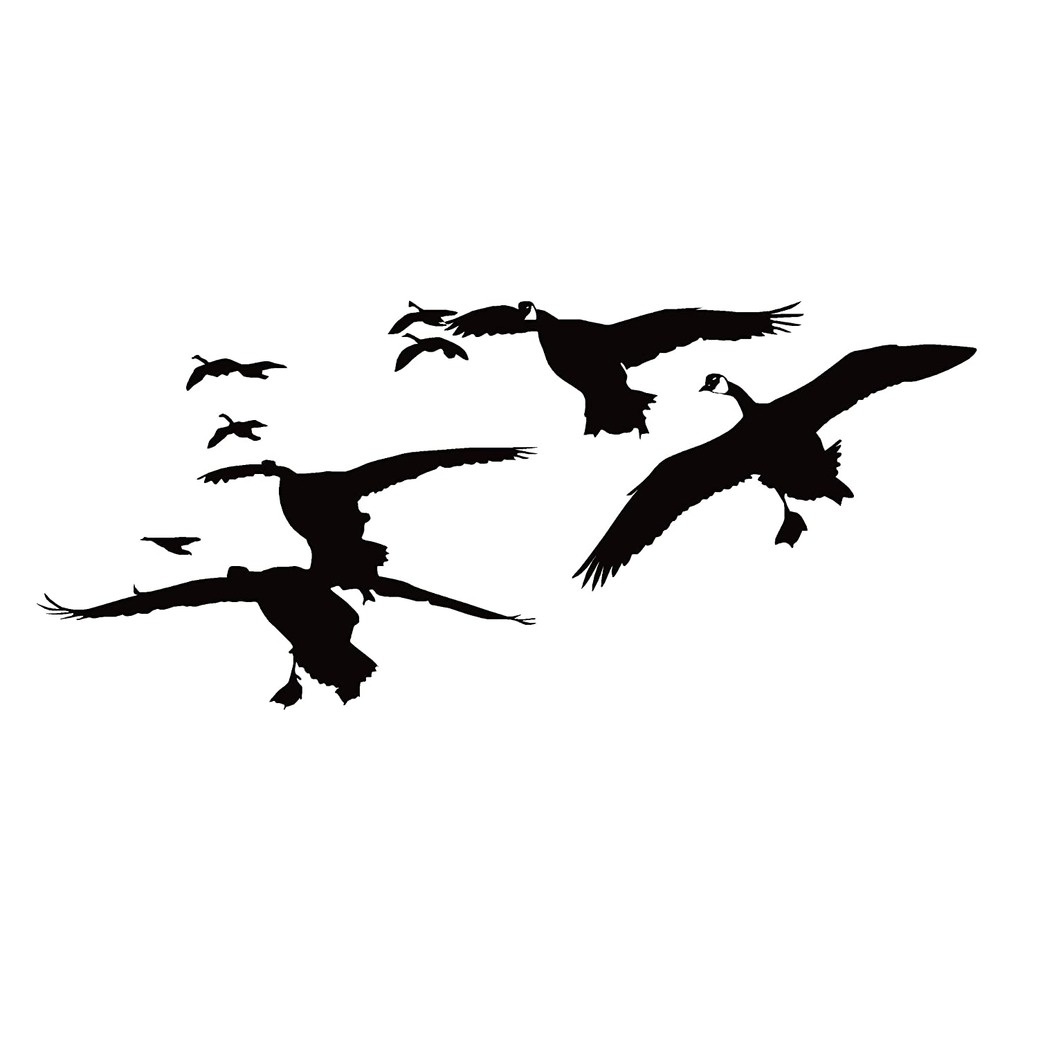Amazon com goose hunting decal flock of geese decal goose hunting sticker snow goose hunting gear 7076 by waterfowldecals medium silver metallic