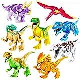 JZK 8 Dinosauro giocattolo blocchi giocattoli minifigure set dinosauri bambini bomboniera regalo compleanno Natale per bambani