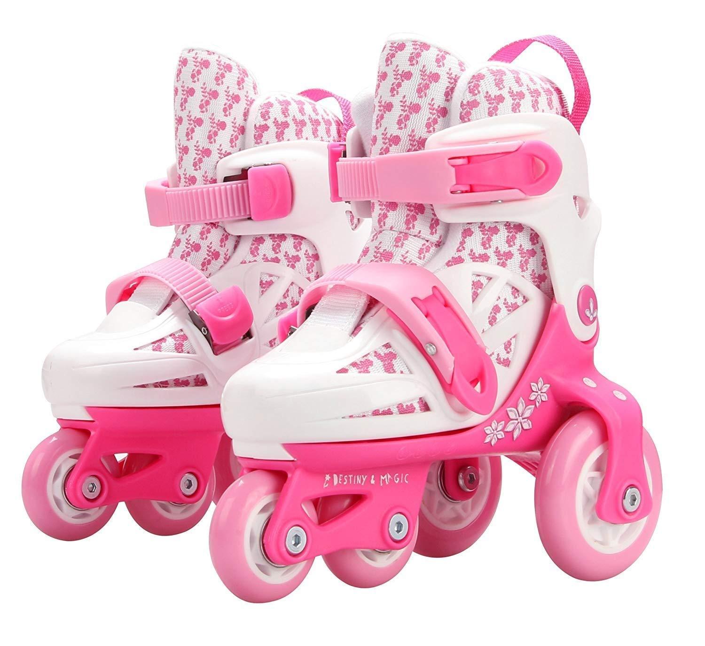 Sumeber Inline Patins /à roulettes pour Enfant avec Longueur r/églable pour Enfant