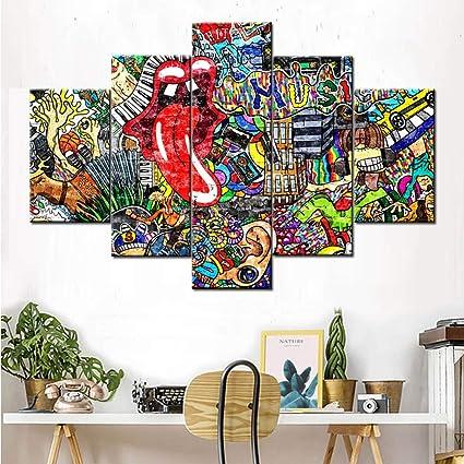 Amazoncom Graffiti Wall Art Paintings Wall Decorations For Living