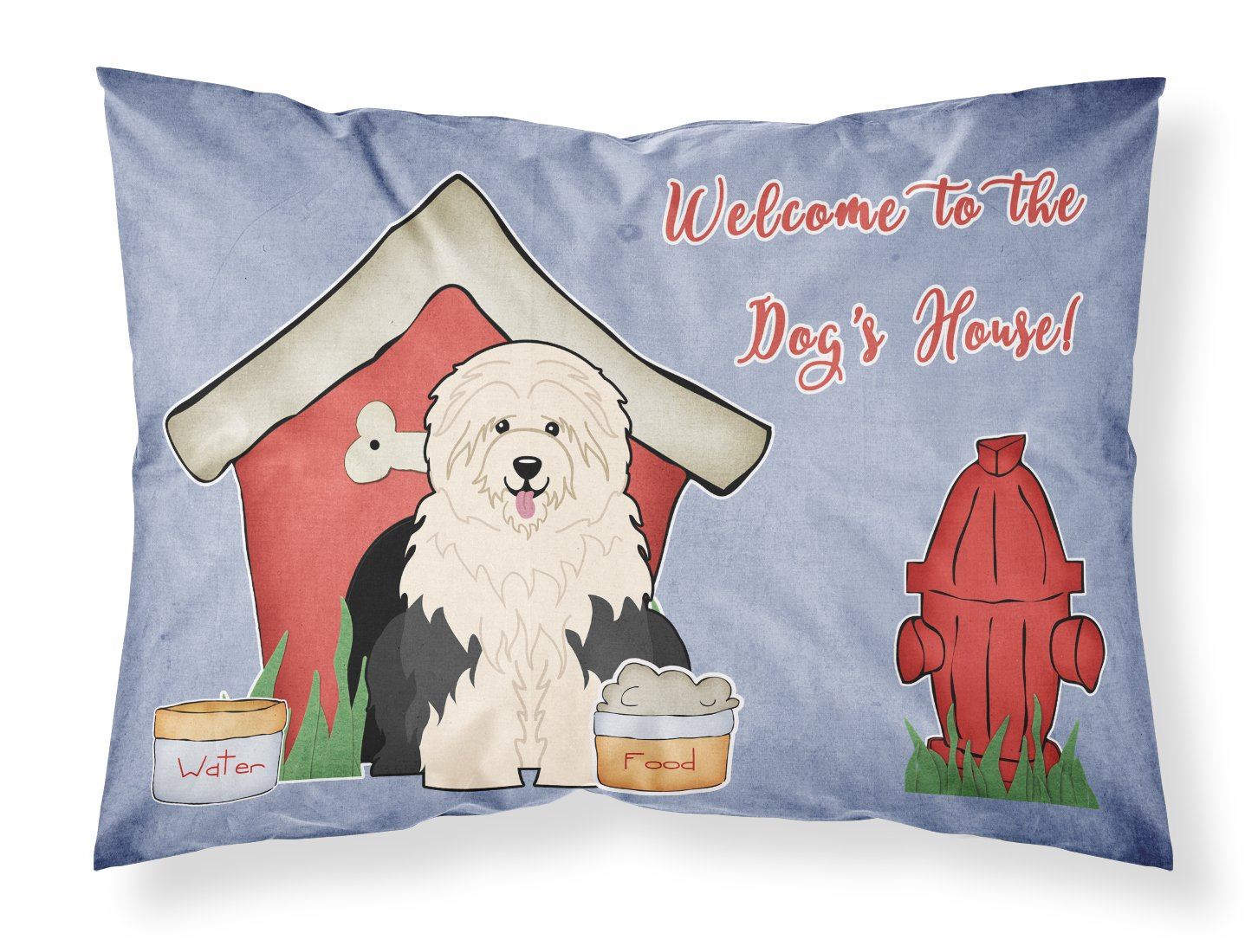 Caroline's Treasures Dog House Collection Old English Sheepdog Fabric Standard Pillowcase BB2850PILLOWCASE Multicolor