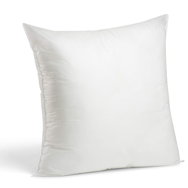 "Foamily Premium Hypoallergenic Stuffer Pillow Insert Sham Square Form Polyester, 24"" L X 24"" W, Standard/White"