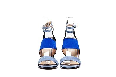 4bacf1761ccc2 Amazon.com: SARA Classy Light And Dark Blue Elegant Unique Chic ...
