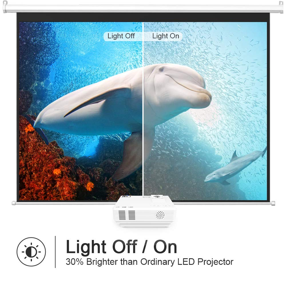 Case For DR.J 4Inch Mini Projector 170/'/' Display 40,000 Hour LED Full HD Video