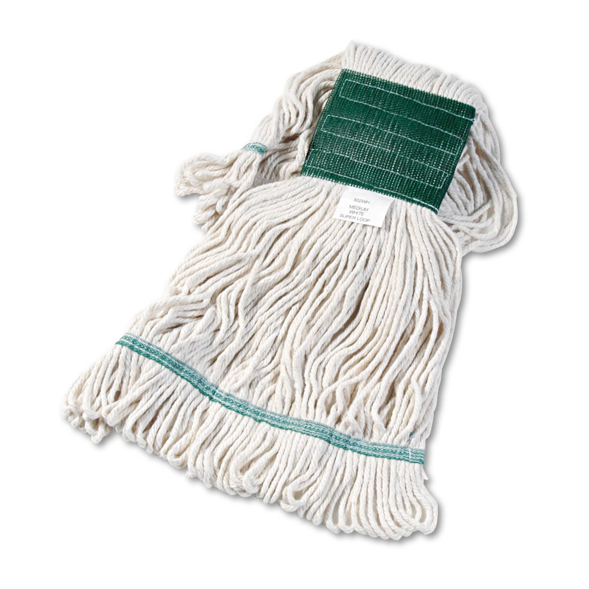 Boardwalk 502WHEA Super Loop Wet Mop Head, Cotton/Synthetic, Medium Size, White