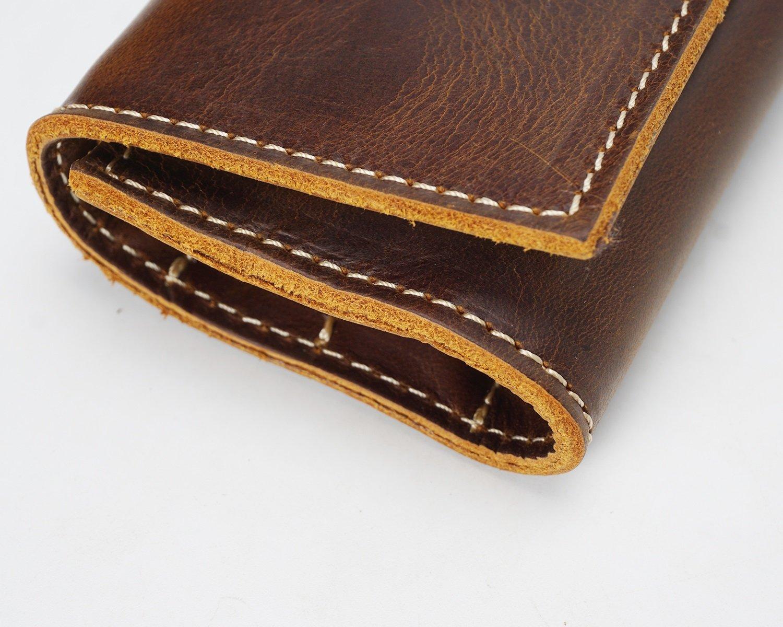 Haoweiwei Bolso Bolsa de Herramientas Retro Primera Cuerda Capa de Cuero Cuerda Primera Vertical Bolsillo multifunción Kit de Cuero Bolsa de Sobres Estuche de lápices Bolsa de Documentos (Color : Negro, Size : S) ebbb03