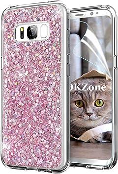 OKZone Funda Samsung Galaxy S8 Plus, Cárcasa Brilla Glitter ...