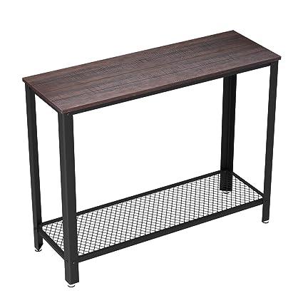 Amazon.com: VASAGLE Industrial Console Sofa Table, for Entryway ...