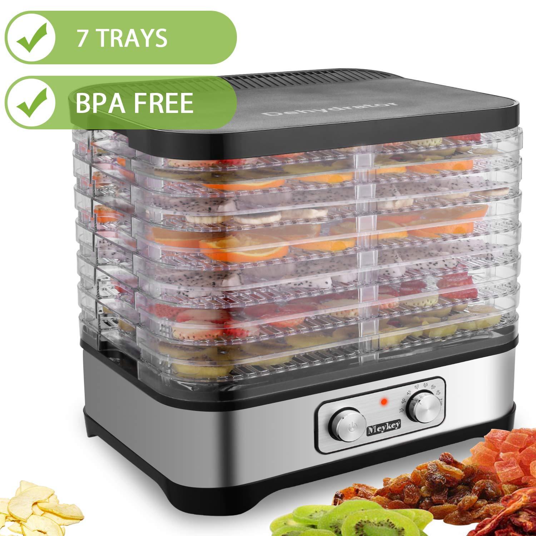 Hauture Food Dehydrator Machine, Jerky Dehydrators with 7 Trays, Knob Button Knob-7 trays