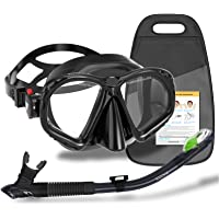 WACOOL Professional Adult Teens Snorkeling Snorkel Diving Scuba Package Set Gear Anti-Fog Coated Glass with Silicon…