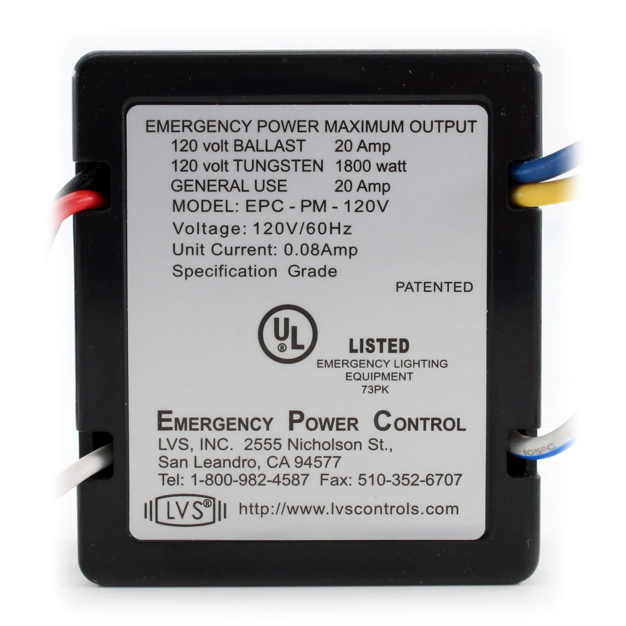 LVS Controls HEPC-120V Emergency Power Control, 120V, 20A, 60Hz