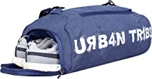 Urban Tribe Plank 23 Liters Sports Gym Bag with Separate Shoe Compartment (Indigo)