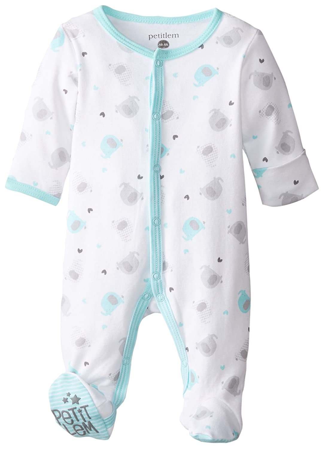 Amazon.com: Baby Footed Sleeper, Premium Soft and Breathable Cotton ...