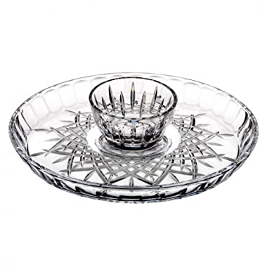 Marquis By Waterford 40030389 Markham Chip and Dip platter, 4.9 , Clear