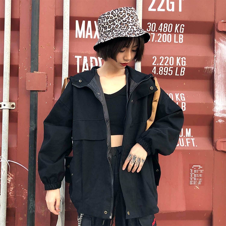 Oversized Loose Baseball Jacket Women Harajuku Hooded Drawstring Casual Outwear 2019 Fashion Spring Womens Jacket