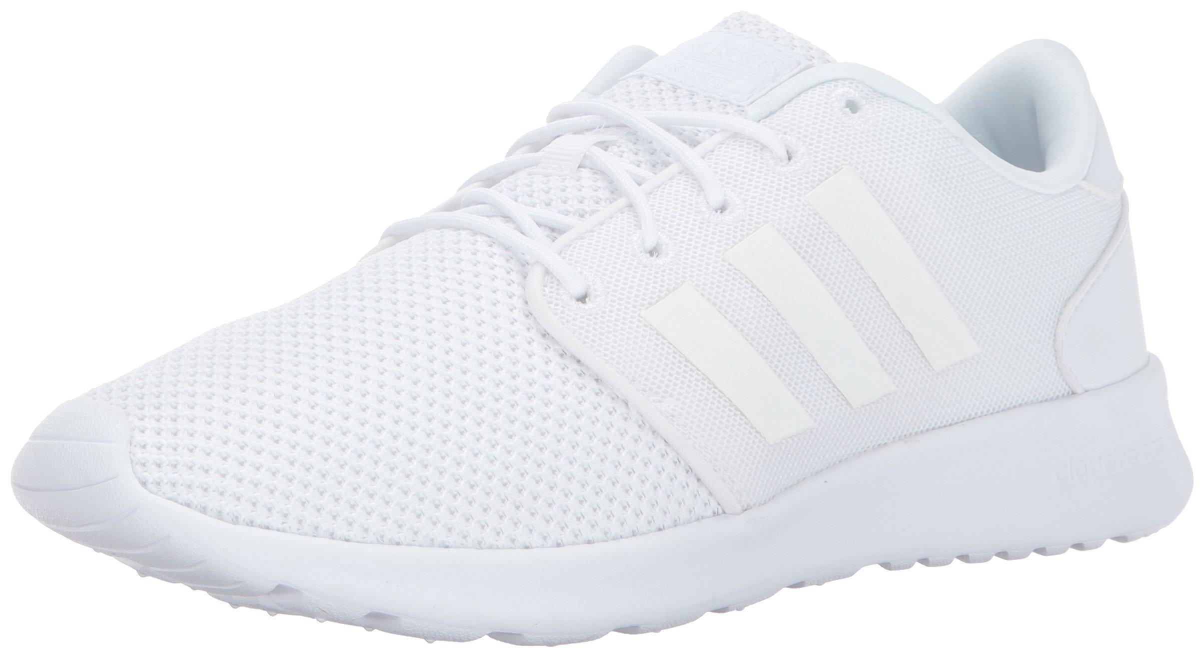 adidas Women's Cloudfoam QT Racer Running Shoe, Triple White, 8 M US