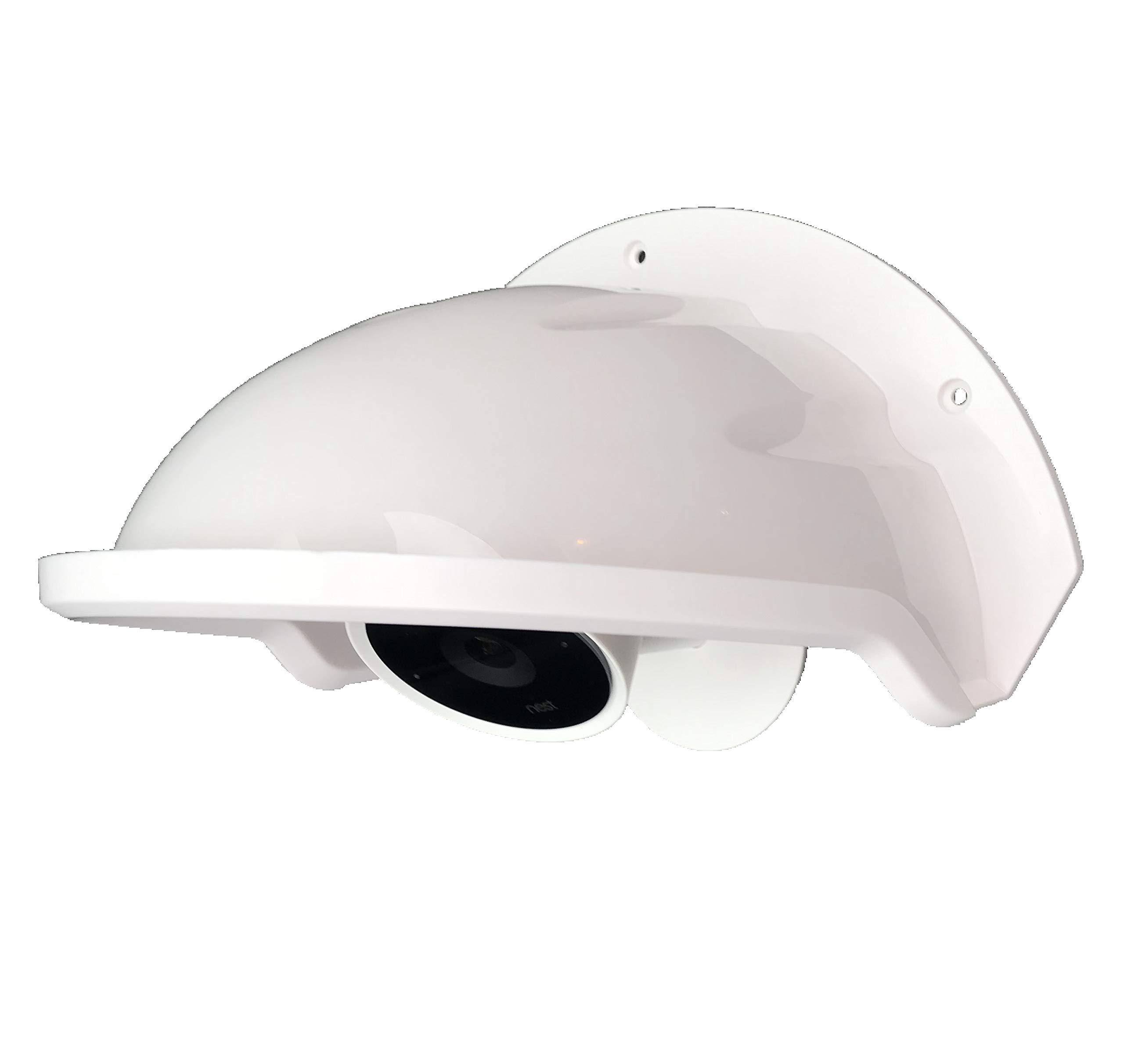 Universal Sun Rain Shade Camera Cover Shield for Nest/Ring/Arlo/Dome/Bullet Outdoor Camera - White by Ade Advanced Optics