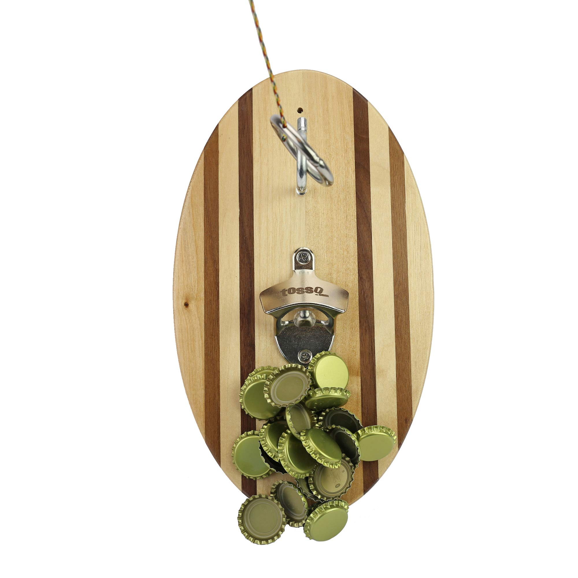 Hammer Crown Hook and Ring Pro (Beach Stripes) with Bottle Opener and Magnetic Bottle Cap Catch by Hammer Crown