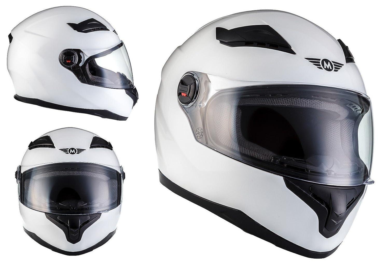 Amazon.es: MOTO X86 Gloss White · Casco Integrale Urbano Scooter Moto motocicleta Sport Urban Cruiser Fullface-Helmet · ECE certificado · visera incluido ...