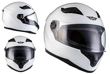 MOTO X86 Gloss White · Casco Integrale Urbano Scooter Moto motocicleta Sport Urban Cruiser Fullface-