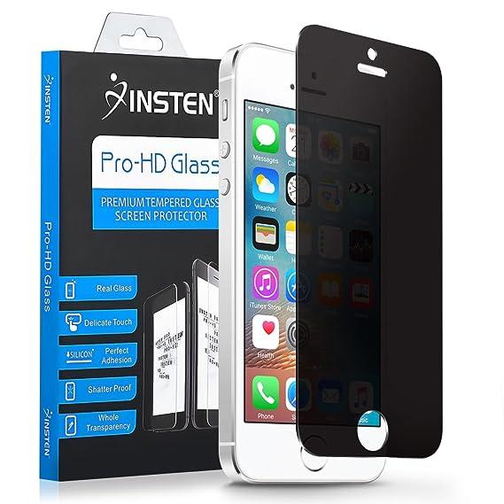 447c0ec90da Screen Protector Compatible with iPhone SE 5 5C 5S Privacy, Insten Premium  Privacy Tempered Glass