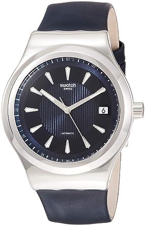 Swatch Reloj Analógico para Hombre de Automático con Correa en Cuero YIS420: Swatch: Amazon.es: Relojes