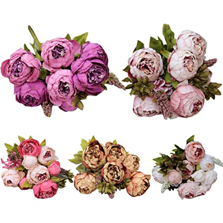 Artificial flowers wholesale beautiful fake peony silk flowers artificial flowers wholesale beautiful fake peony silk flowers wedding home dcor pack 5 bouquets mightylinksfo