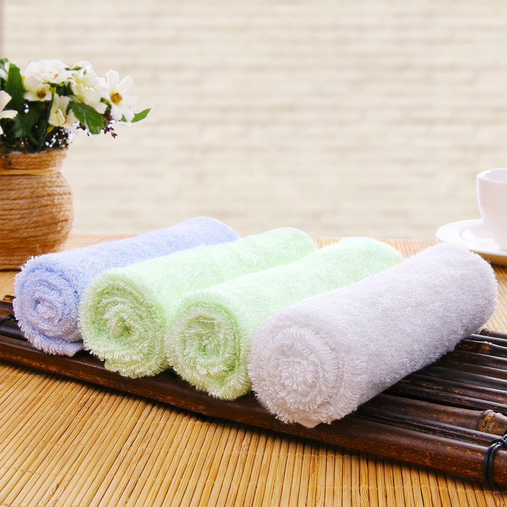 Baby Washcloths Organic Natural Bath Towels Ultra Soft and Absorbent Baby Wipes for Infant's Delicate and Sensitive Skin (6 Pack) Pinfect