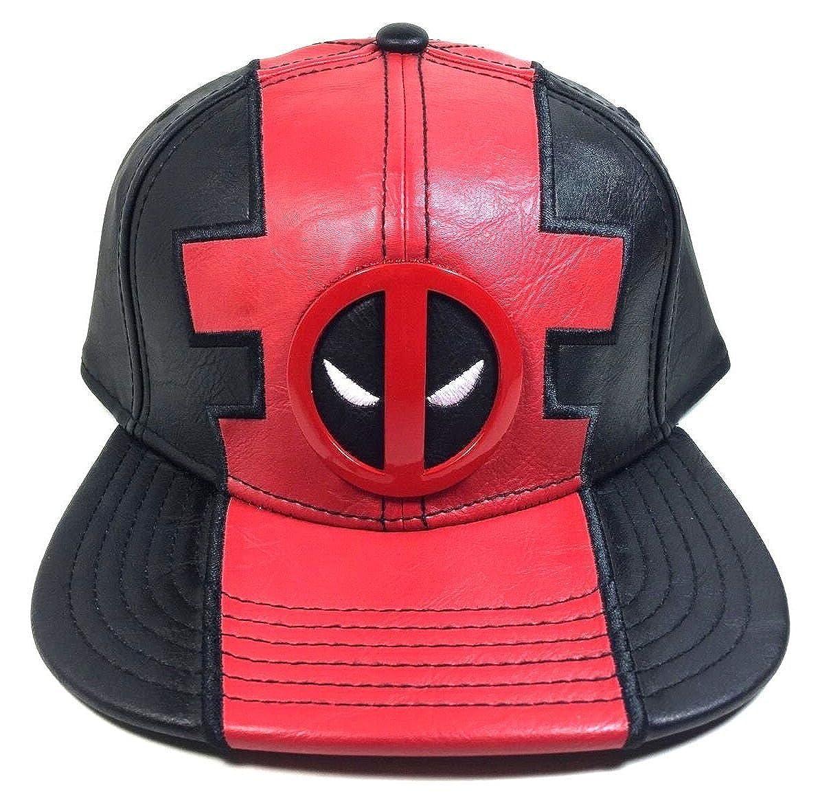 save off 89c41 cce62 Amazon.com  Marvel Comics Deadpool Suit Up Pu Faux Leather Snapback   Clothing