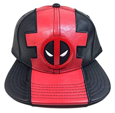 655400a197452 Image Unavailable. Image not available for. Color  Marvel Comics Deadpool  Suit Up Pu Faux Leather Snapback