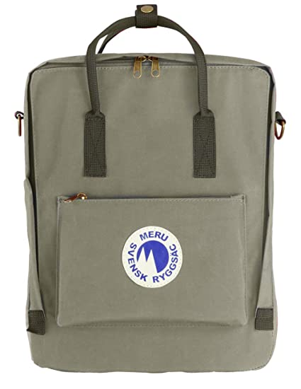 4d102604b8e3 Meru Swedish Backpack (Svensk Ryggsac) Small Daypack Waterproof School Bag  Pack - Unisex (