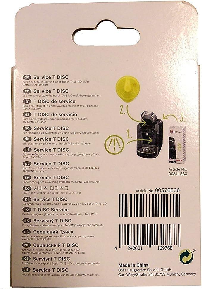 Bosch T-Disc - Pieza de Repuesto para Tassimo T20, Color Amarillo ...