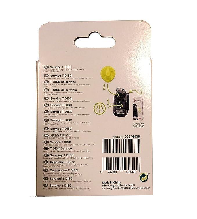 Bosch T-Disc - Pieza de repuesto para Tassimo T20, color amarillo: Amazon.es: Hogar