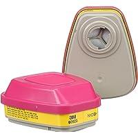 3M Cartucho Dual para Vapores Org, Gases Ácidos y part P100, 60923, caja con 60 piezas